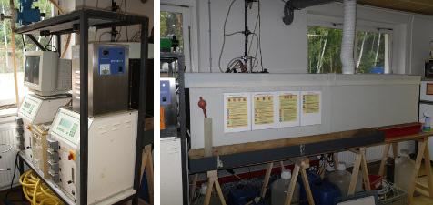 Versuchsanlage: Prozesswasserreinigung aus der On-Site-Bodenwäsche (Teerölschaden)