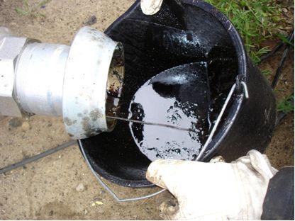 Schweröl aus einem Ölabscheider